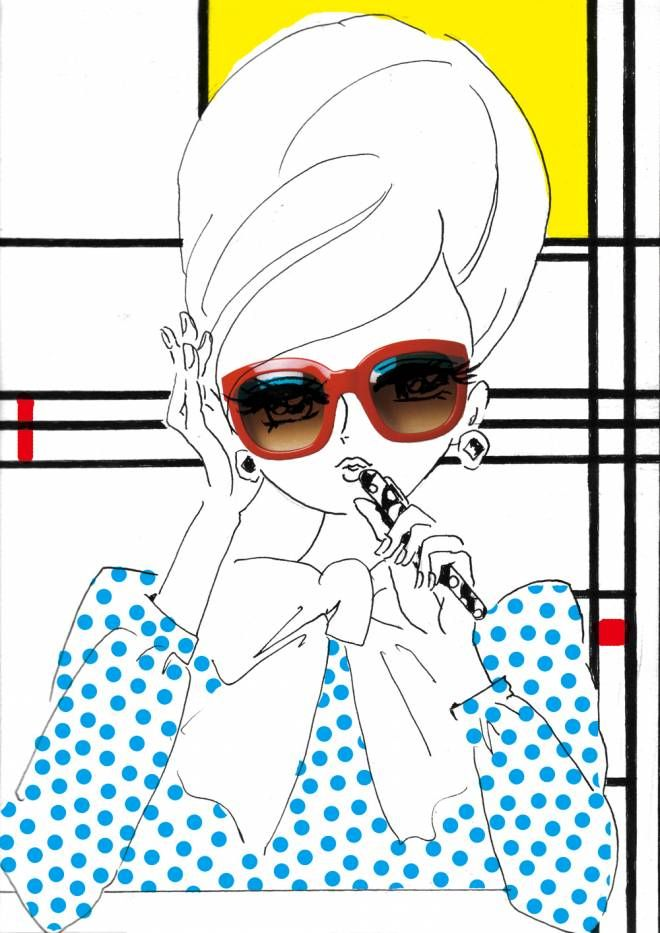 ISETAN T MAGAZINE: illustration by akiko hiramatsu