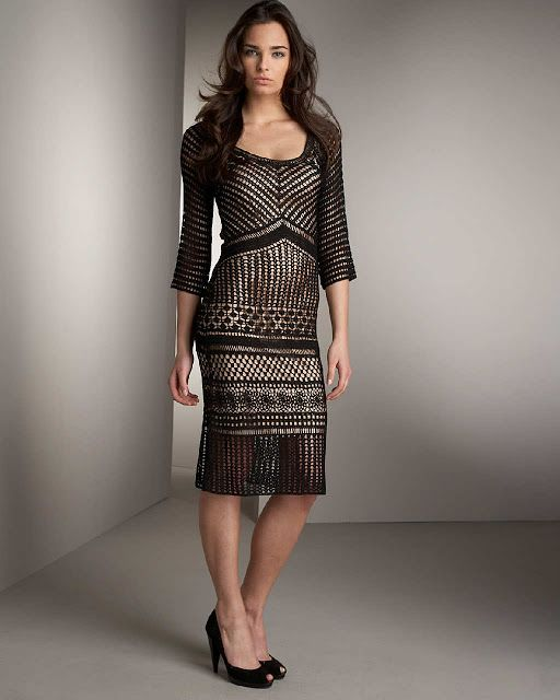 Crinochet: Neiman Marcus Black Dress with charts and pics