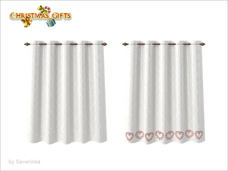 Translucent curtains with embroidery  Found in TSR Category 'Sims 4 Curtains & Blinds'