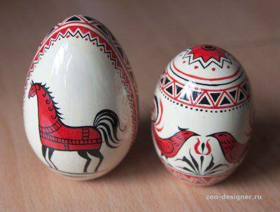 Мезенская роспись пасхальных яиц