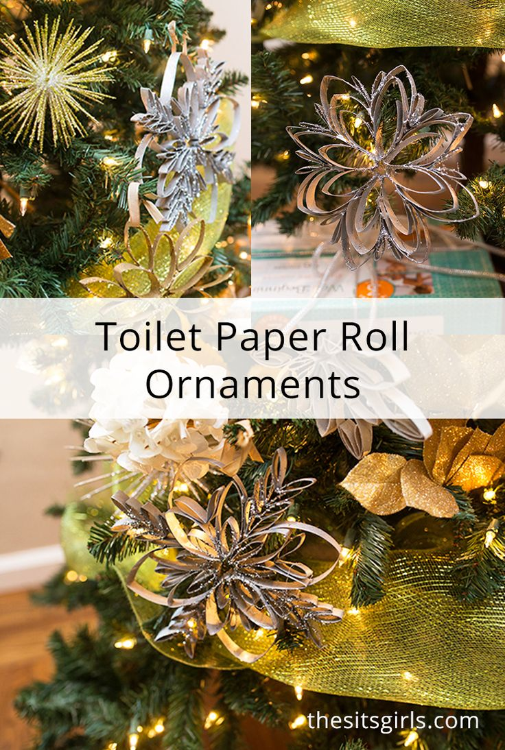 Learn How To Make Toilet Paper Roll Ornaments When You Make Your Own Snowflake Orna Christmas Tree Decorations Diy Christmas Ornaments Handmade Christmas Tree