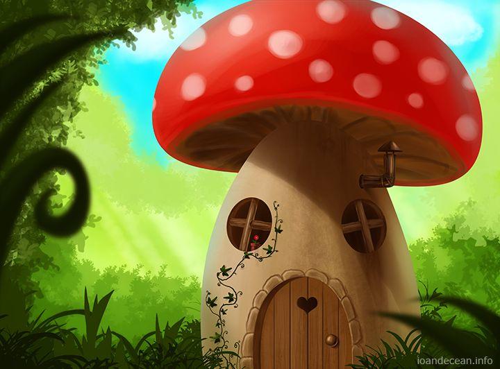 mushroom house by nelutuinfo.deviantart.com on @DeviantArt