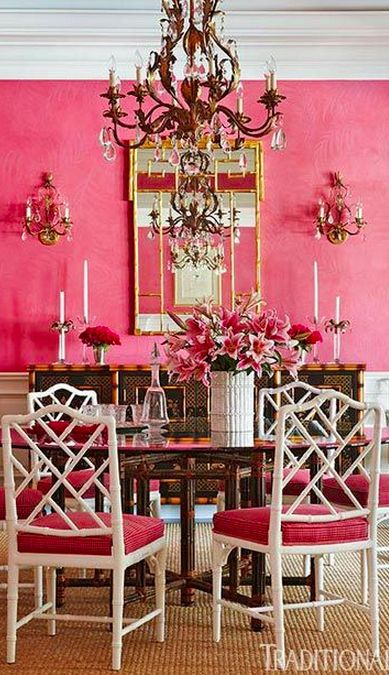 Saturated pink - from Traditional Home