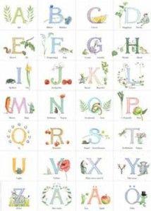 Majas alfabet affisch