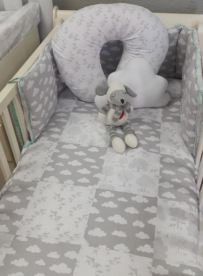 Our #LittleWoodlands bedding is perfect for a neutral nursery!