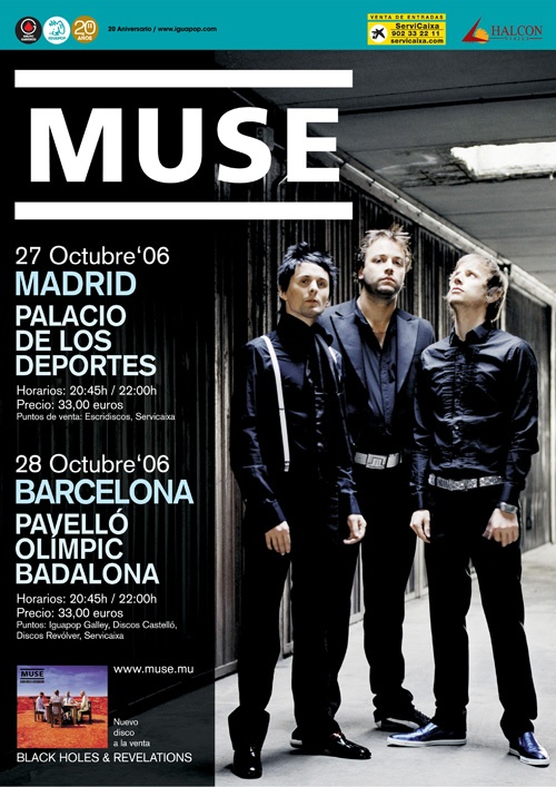MUSE, Tour 2006 Madrid y Barcelona