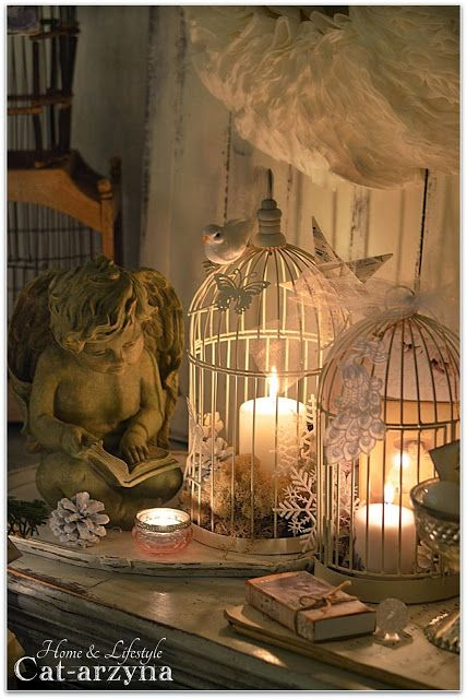 Bird Cages as Candle Holders