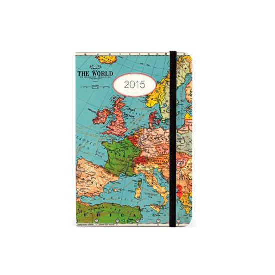 Cavallini Vintage Map Weekly Planner 2015, £12.50, Oliver Bonas