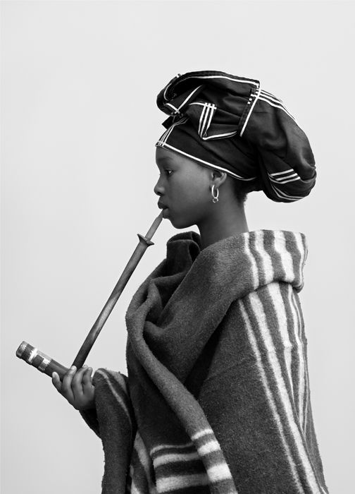 Anita Mbanyaru as 'A Young Xhosa Married Woman' | © Andrew Putter {From Andrew's 'Native Work' exhibition that comprised of 21 black-and-white photographs of contemporary black Capetonians, in 'tribal' or 'traditional' costume in the genre of the iconic ethnographic photographer Alfred Martin Duggan-Cronin }