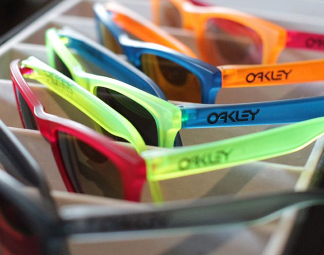 Oakley Frogskins Black Light Collection - I remember my mum and dad getting a pair of original frogskins and they only threw them out recently. Gutted