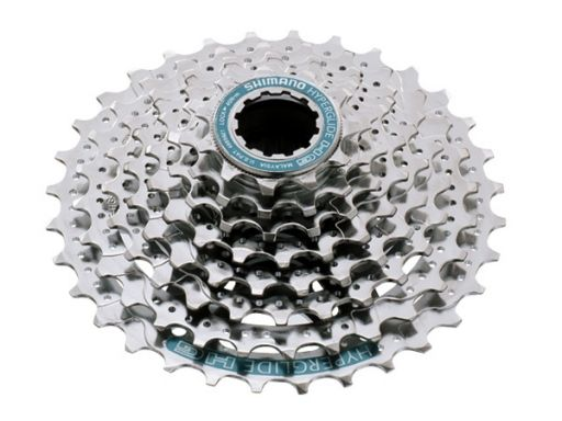 Shimano HG50 8-speed Cassette. Upgraded appearance Lighter weight with 50g compared to previous model.