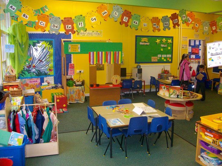 colourful bright reception classroom, love it