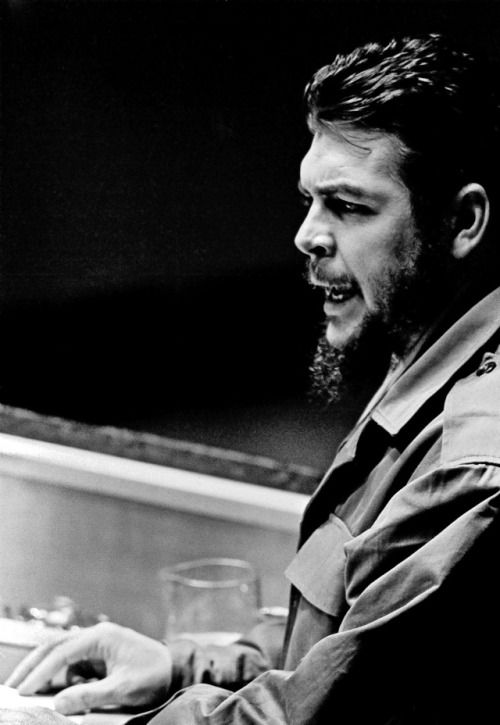 Che Guevara, Minister of Industries of Cuba.11 December 1964 United Nations, New York
