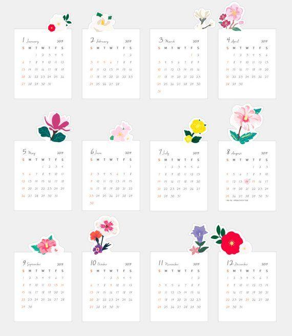 2020 Desk Calendar 2020 Calendar Desk Schedule Pink Calendar