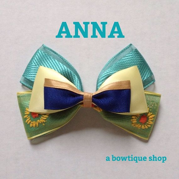 anna hair bow by abowtiqueshop on Etsy