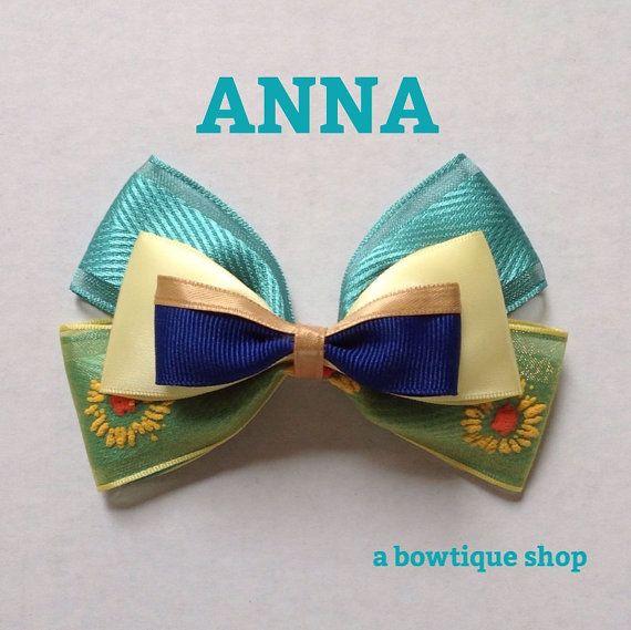 anna hair bow by abowtiqueshop on Etsy