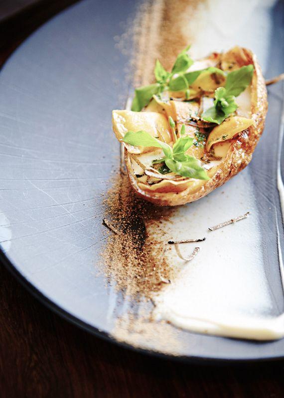 'Baked Potato' & chive ravioli, white bean velouté, parmesan & Burgundian truffle @ Jordan Restaurant, Stellenbosch | South Africa