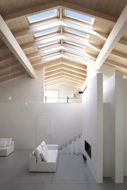 wood + white + light