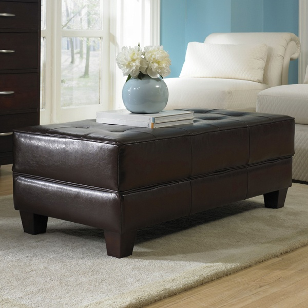 Cute, But Expensive :p Riverside Storage Ottoman Coffee Table With Wood  Legs $459.00