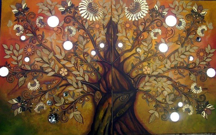 Tree of life. Painting by Mara diop