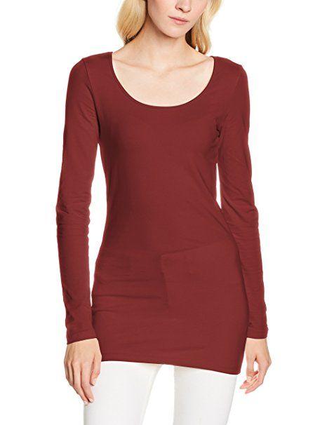 7f694ada262098 VERO MODA Damen Langarmshirt Vmmaxi My LS Soft Long U-Neck NOOS  -  Sweartshirt