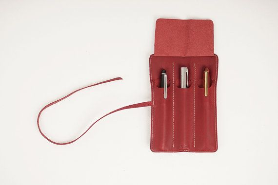 5507 Rolling Fountain pen Pouch 3 sections by HEVITZ on Etsy