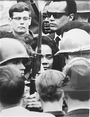 Coretta Scott King at the Memorial Rally for Dr. Martin Luther King, Jr. in Memphis 1968