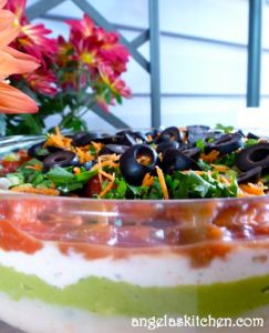 Gluten Free Dairy Free Seven Layer Dip - It can be free of all top 8 allergens, too!