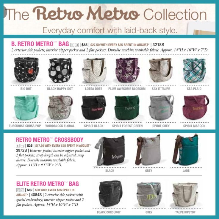 Thirty One Retro Metro Collection!  You can get all of these new patterns for 50% off this month when you spend $35
