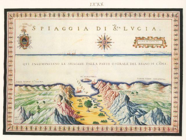 Η παραλία της Αγίας Φωτιάς (Αγίας Φωτεινής) στην Ιεράπετρα. ..Francesco Basilicata..για την Κρήτη...1618 - 1638.