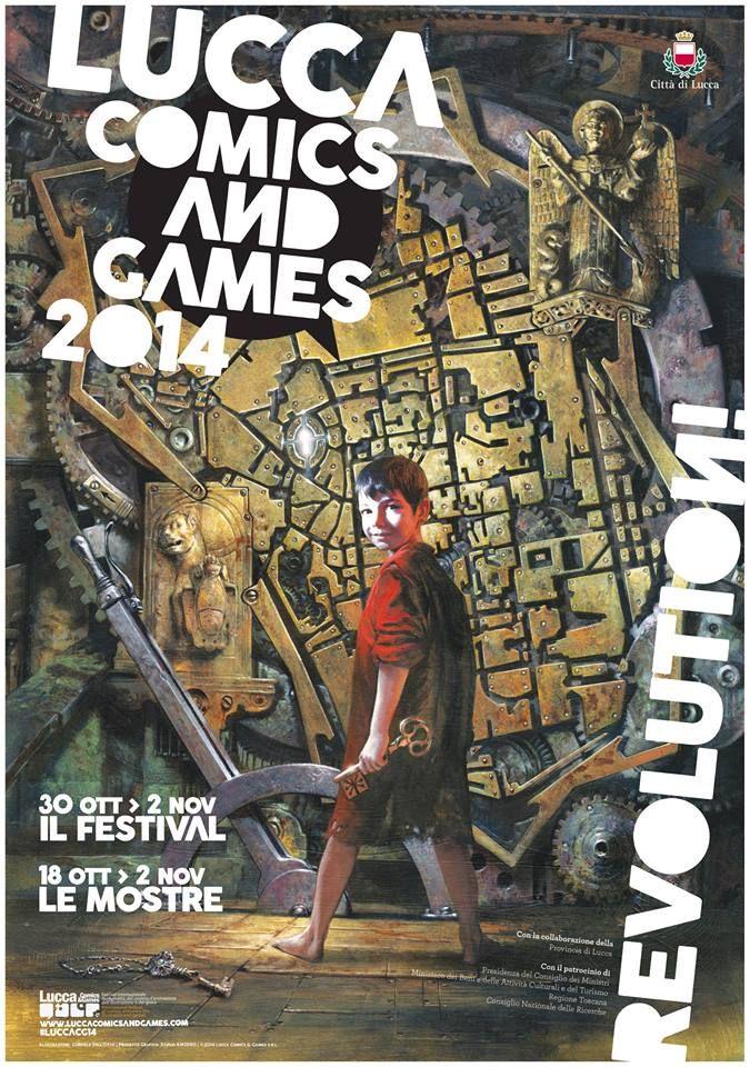 Manifesto ufficiale di Lucca Comics & Games 2014!!! Da giovedì 30 Ottobre a domenica 2 Novembre, tutti insieme a celebrare il meglio delle nostre passioni: dal fumetto al gioco, dall'illustrazione al cinema, senza dimenticare videogame, musica e cosplay.