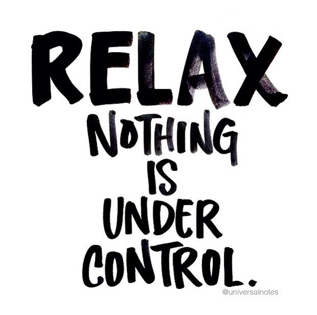 Nothing is under control....think about it.