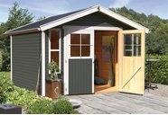 Gartenhaus mit Satteldach, 9,2 m², 19 mm Wandstärke