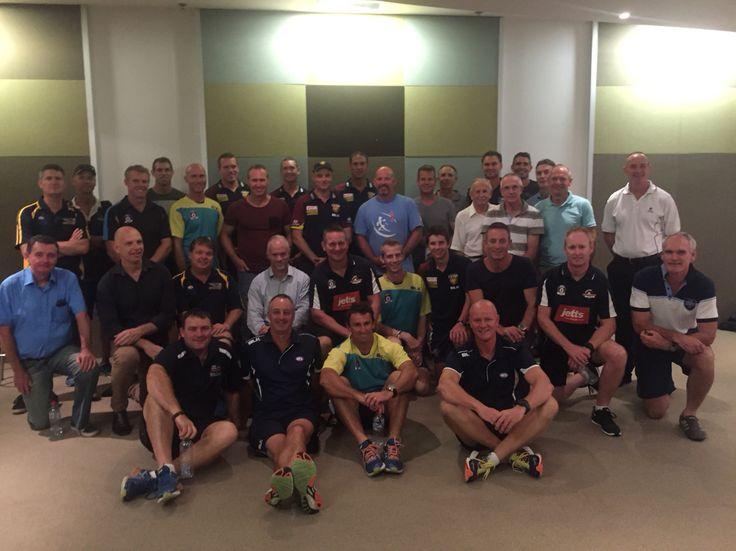 #CommunityCamp fourth agenda item: coaching forum with Lions coaching staff.