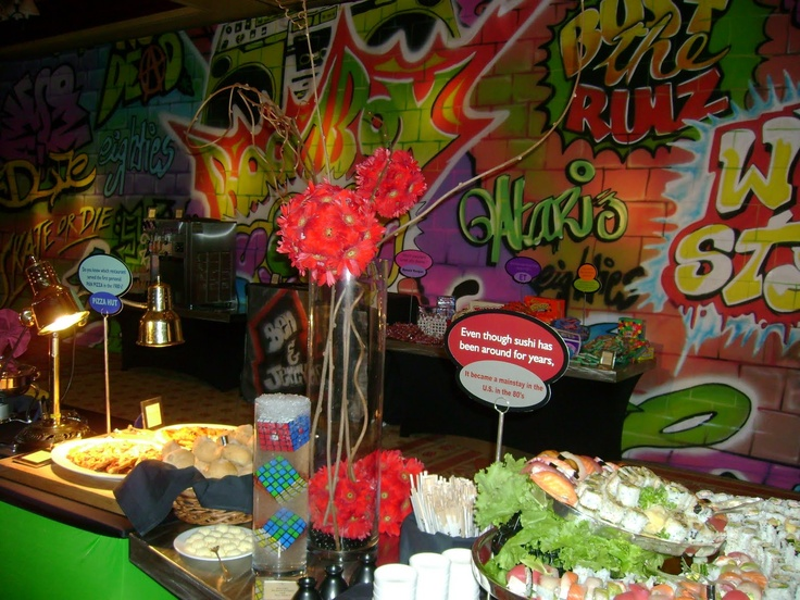 Love this backdrop 80 theme party pinterest dessert tables vase and dessert table backdrop - Decoratie opgeschort wc ...