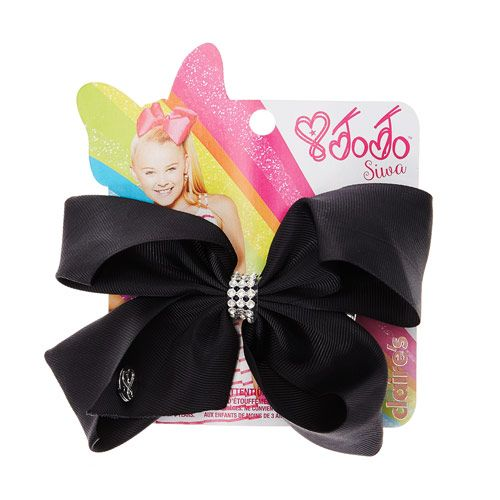 Jojo Siwa Small Rhinestone Keeper Black Hair Bow