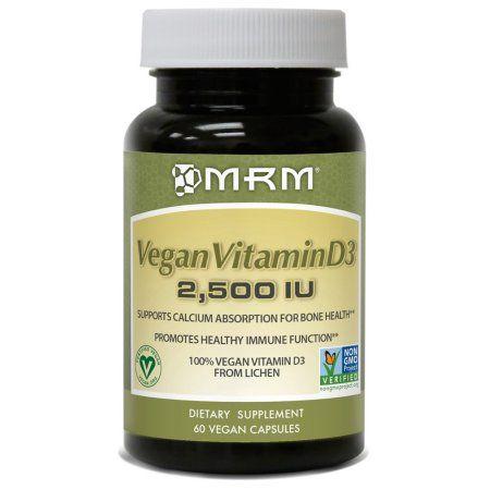 Mrm Vegan Vitamin D3 2500 Iu Vegan Capsules 60 Ct Walmart Com In 2020 Vegan Vitamins Vitamins Vitamin D3