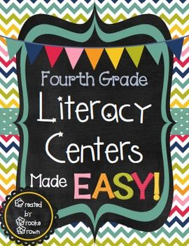 "Are you ready to begin using EFFECTIVE, ENGAGING centers that are EASY for you and your fourth graders to manage?This zip file contains EVERYTHING you need to effectively manage fourth grade centers while keeping students engaged and on task! Over 40 pages of materials for you to print and use right away.Students are offered flexible, open-ended CHOICES for Literacy Centers in a fun ""menu"" format."