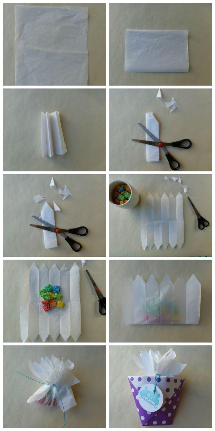 Bolsita para caramelos: Papeles Pequeños