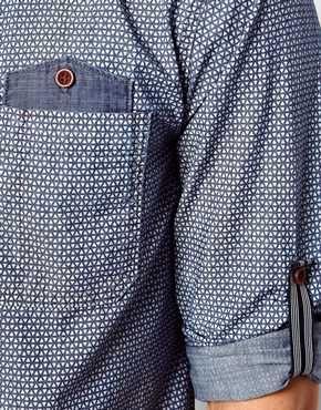 Enlarge Jack & Jones Shirt With White Fine Print