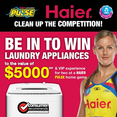 Haier Pulse - Be in to win Laundry Appliances