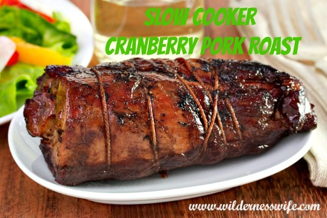 Slow Cooker Cranberry Pork Roast Recipe - anytime of the year the slow ...