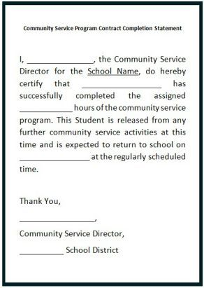community service hours letter for college - Community Service Hours Certificate Template