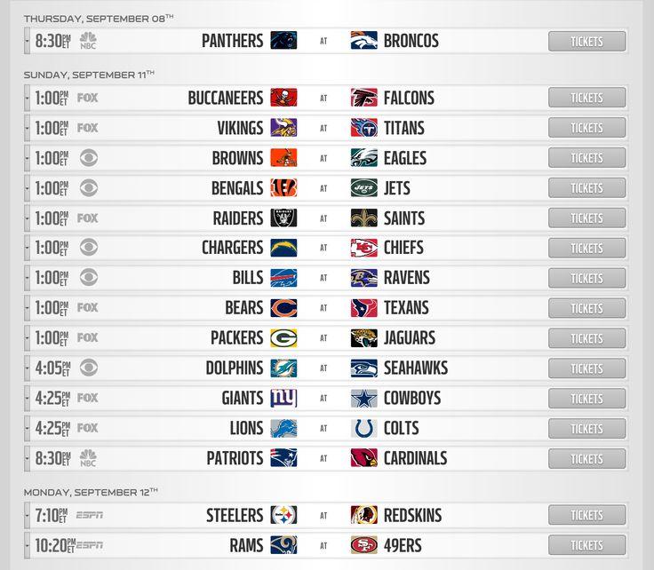 NFL 2016 schedule released - http://wqad.com/2016/04/14/nfl-2016-schedule-released/