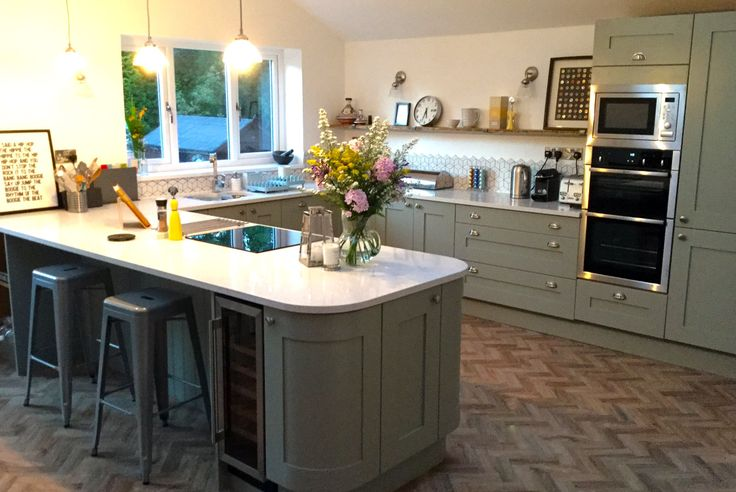 An Innova Norton Lamp Room Grey Shaker Kitchen