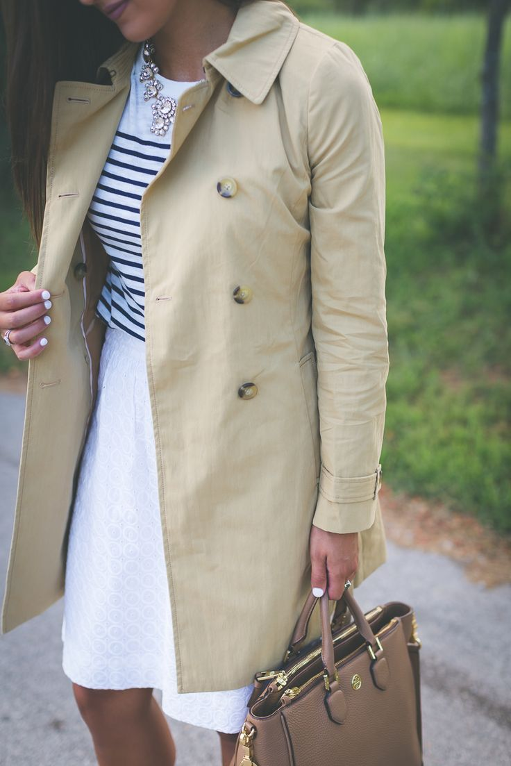 hautelook sale, hautlelook flash sale event, j.crew factory on hautelook, j.crew factory fall clothes, j.crew factory sale, j.crew trench coat, j.crew statement necklace, preppy stripe outfit, preppy j.crew outfit, southern fashion blogger // grace wainwright a southern drawl