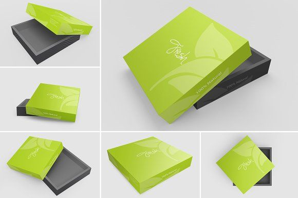 Box Packaging Mockups Bundle - 6psd by shrdesign on @creativemarket