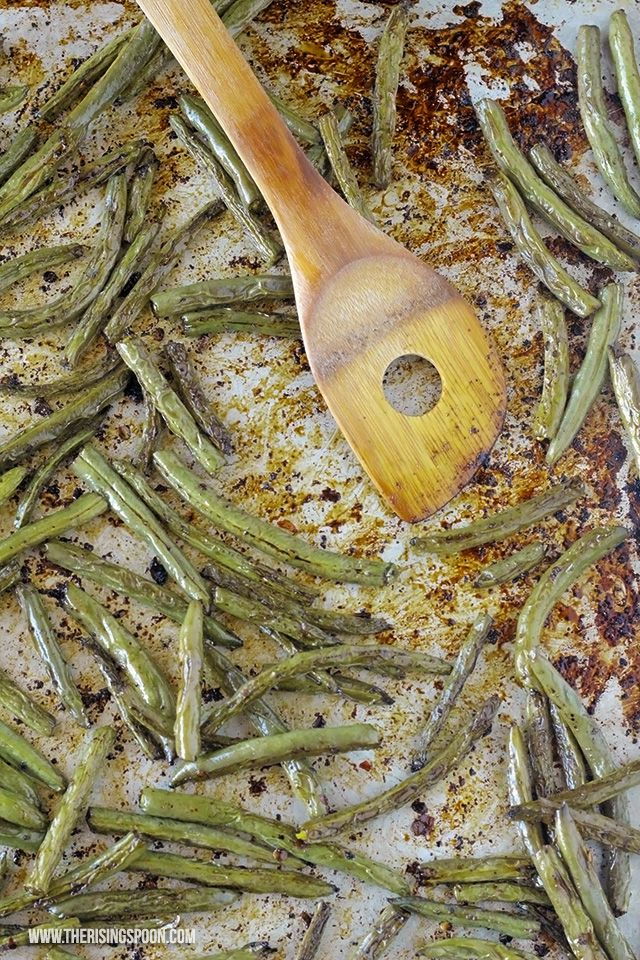 Balsâmico assado no forno dos feijões verdes (Easy & Green Saudável Feijão…
