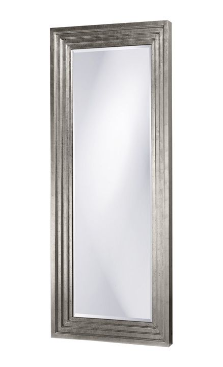 "FineHomeLamps.com - Delano Silver Mirror by Howard Elliott - 34"" x 82"", $649.90 (http://www.finehomelamps.com/delano-silver-wall-or-floor-mirror.html/)"