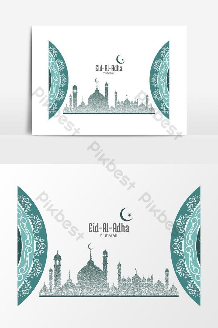 عيد الأضحى مبارك عنصر الرسم المتجه خلفيات Ai تحميل مجاني Pikbest Eid Al Adha Eid Background Background Design